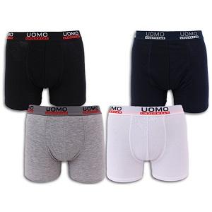 329f81ccc0e Ανδρικά Boxer σορτς Εσώρουχα UOMO. Χρώματα: Μαύρο / Λευκό / Γκρι / Μπλε.  Μέγεθος: M-XXXL Υλικά: 95% βαμβάκι 5% ελαστίνη.